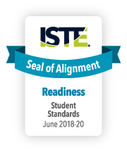 ISTE Seal of Alignment of Readiness for student standards